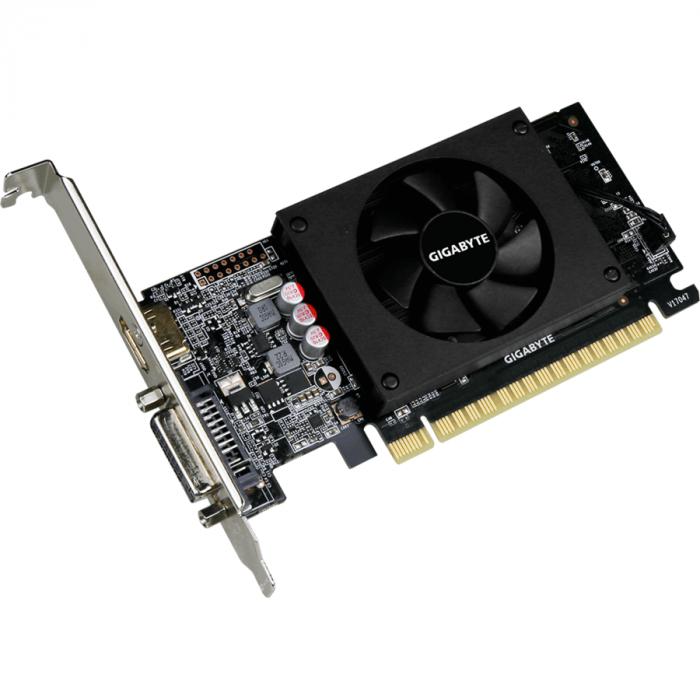 Placa video GIGABYTE GeForce GT 710 2GB GDDR5 64-bit Low Profile [2]