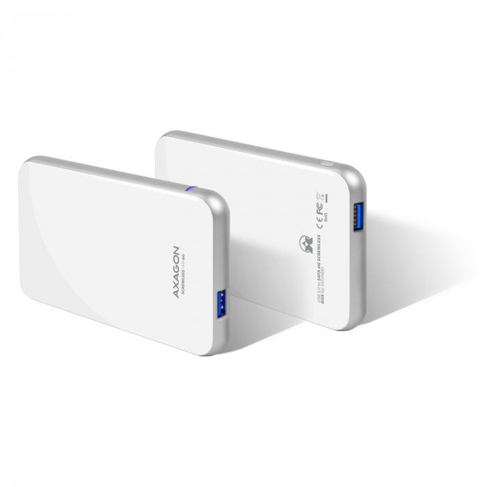 Rack extern Axagon EE25-S6, Conexiune USB 3.0, compatibil cu HDD/SSD de 2.5 inch SATA , 6 Gbit/s, Alb, Toolless [8]