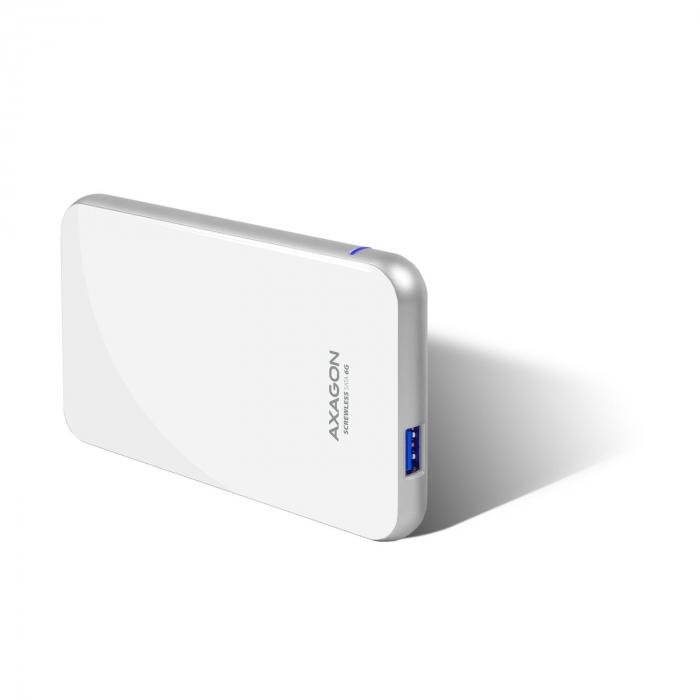 Rack extern Axagon EE25-S6, Conexiune USB 3.0, compatibil cu HDD/SSD de 2.5 inch SATA , 6 Gbit/s, Alb, Toolless [7]