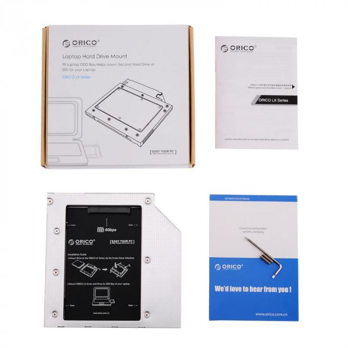 Rack HDD Orico LX Series L95SS V1 PRO 9.5mm Caddy 2.5 inch 3