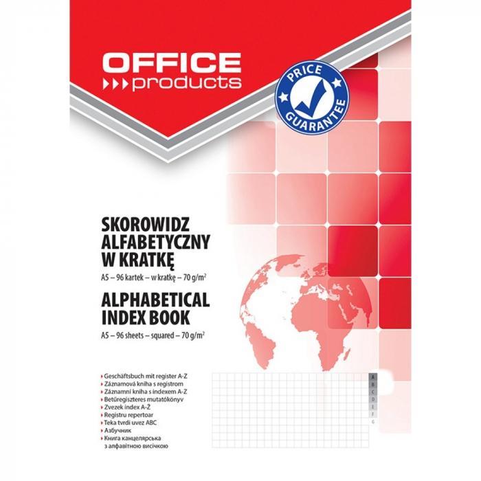 Repertoar A5, 96 file 70g/mp, coperti carton rigid, Office Products - matematica 0