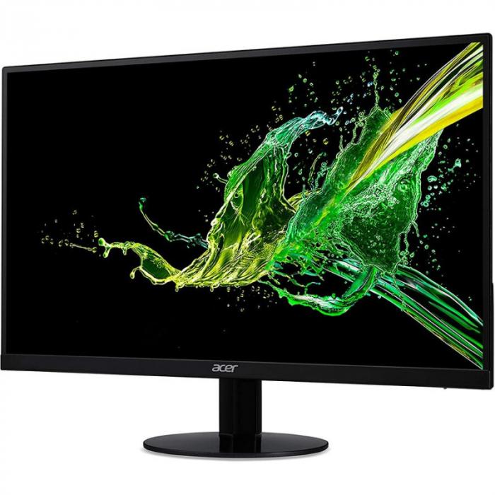 Monitor Acer IPS LED 23.8 inch SA240YA, Full HD, VGA + HDMI, black 0