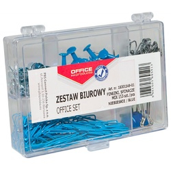 Set 153 bucati accesorii de birou, Office Products - albastru 0