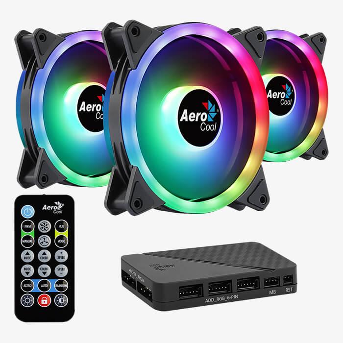 Set 3 ventilatoare Aerocool Duo 12 Pro 120mm iluminare aRGB [1]
