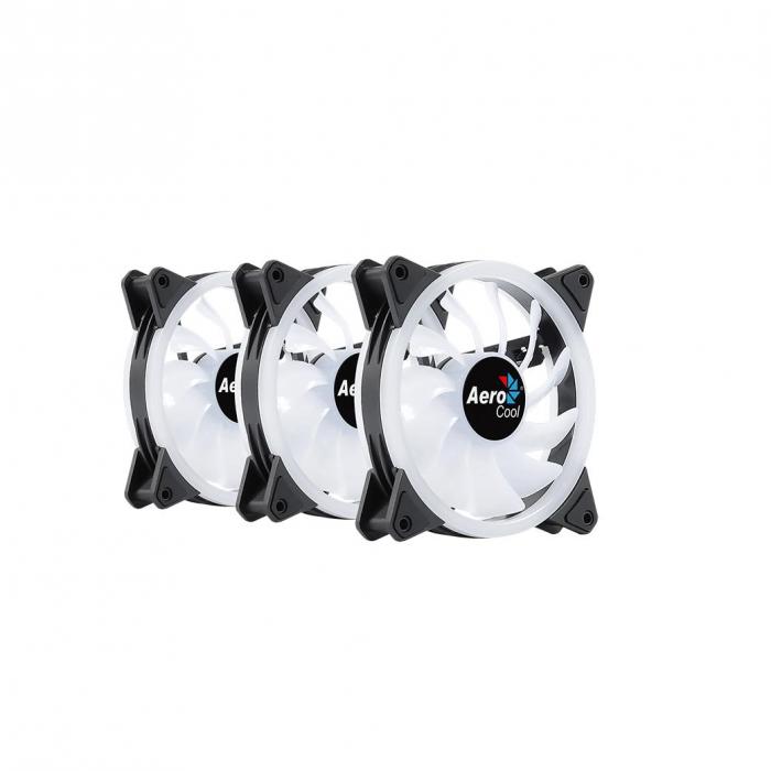Set 3 ventilatoare Aerocool Duo 12 Pro 120mm iluminare aRGB [3]