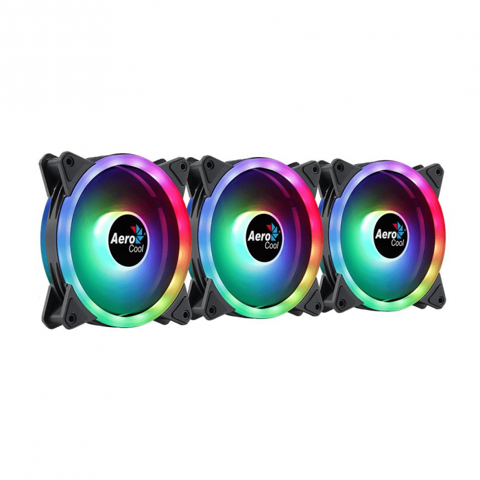 Set 3 ventilatoare Aerocool Duo 12 Pro 120mm iluminare aRGB [7]
