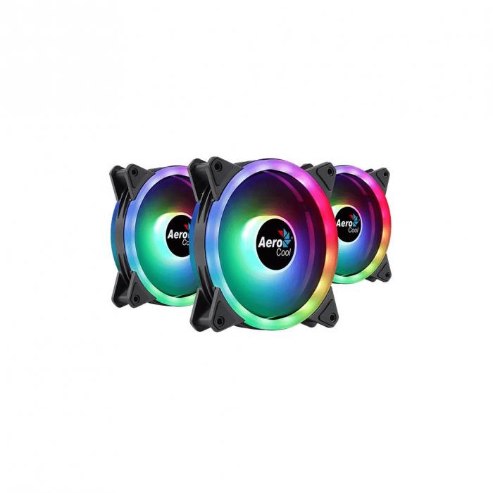 Set 3 ventilatoare Aerocool Duo 12 Pro 120mm iluminare aRGB [0]