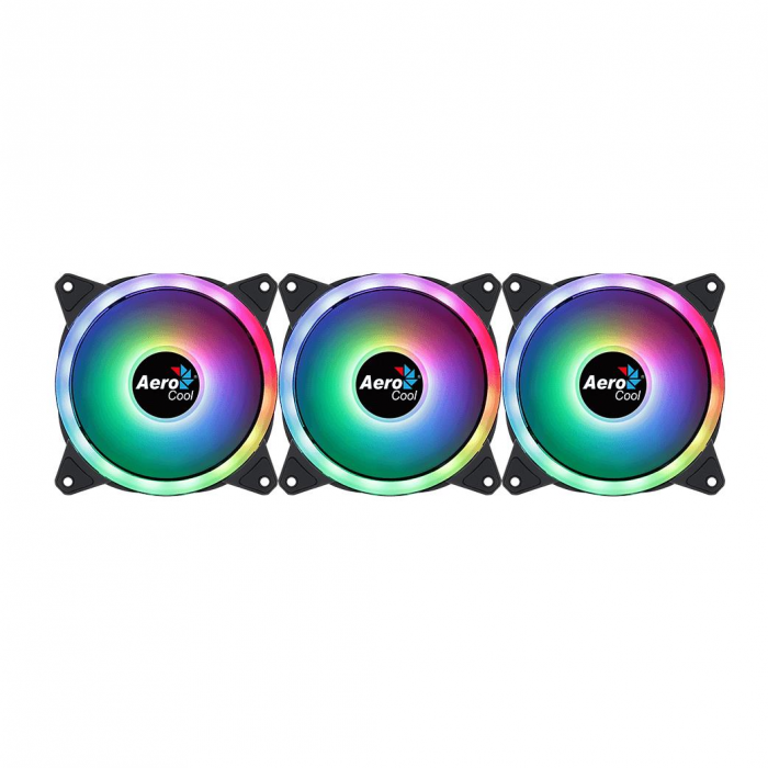 Set 3 ventilatoare Aerocool Duo 12 Pro 120mm iluminare aRGB [5]