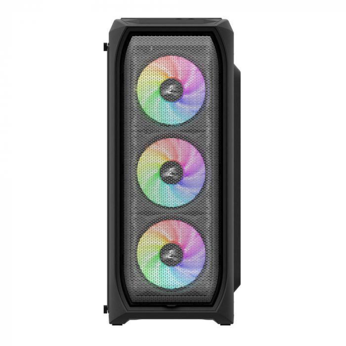 Sistem Gaming N5 V7, AMD Ryzen 5 2600 3.9GHz, 32GB DDR4, SSD M2 500GB + 2TB HDD, GTX 1650 4GB GDDR6, iluminare RGB 1