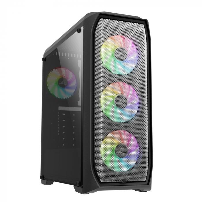 Sistem Gaming N5 V6, AMD Ryzen 5 2600 3.9GHz, 32GB DDR4, SSD 240GB + 1TB HDD, GTX 1650 4GB GDDR6, iluminare RGB 0