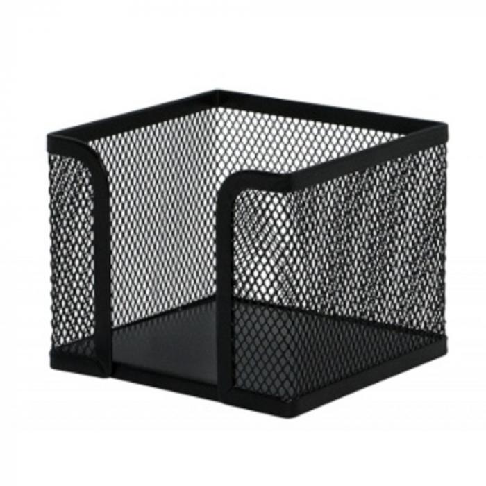 Suport metalic Mesh, pentru cub notite, Q-Connect, negru [0]