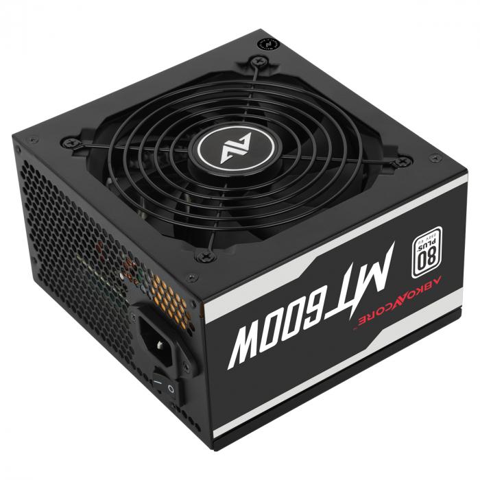 Sursa ABKONCORE Mighty 600W Real Power, PFC activ, ventilator, 120mm, 80 Plus [0]