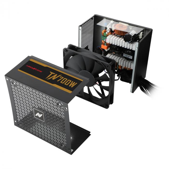 Sursa ABKONCORE Tenergy Bronze 700W Real Power, PFC activ, ventilator 135mm, 80 Plus Bronze [3]