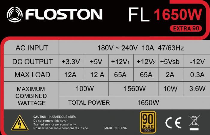 Sursa Floston 1650W 80 PLUS Gold [5]