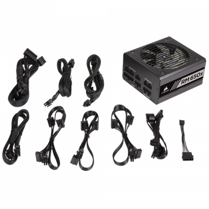 Sursa Corsair 650W, RM-X Series, RM650x, 80 PLUS Gold 6