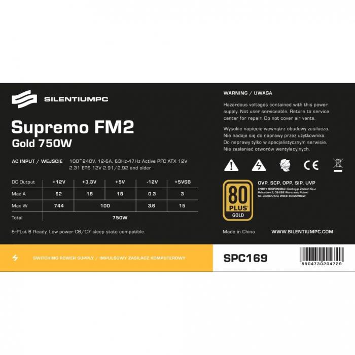 Sursa SILENTIUM PC Supremo FM2 Gold Series, 650W, 80 PLUS Gold [19]