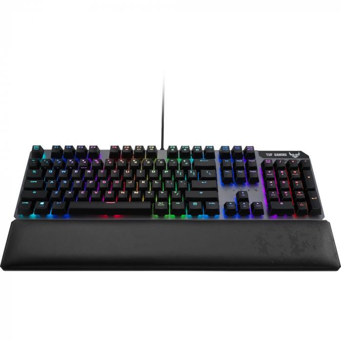 Tastatura gaming mecanica Asus TUF K7 switch-uri optical-mech RGB neagra [3]