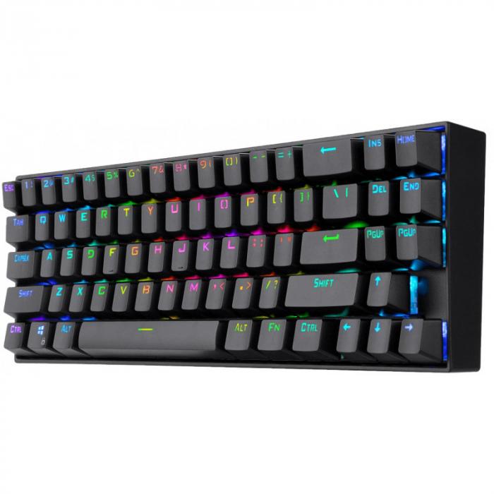 Tastatura Gaming Redragon Deimos, RGB, Mecanica, Red Switch, 2.4G wireless + wired [2]