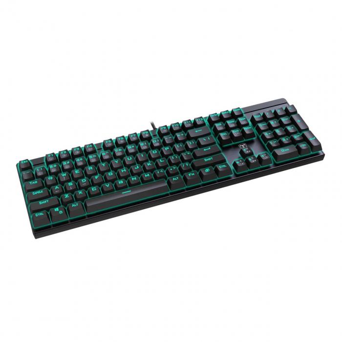 Tastatura mecanica T-DAGGER Escort Red Switch neagra [1]