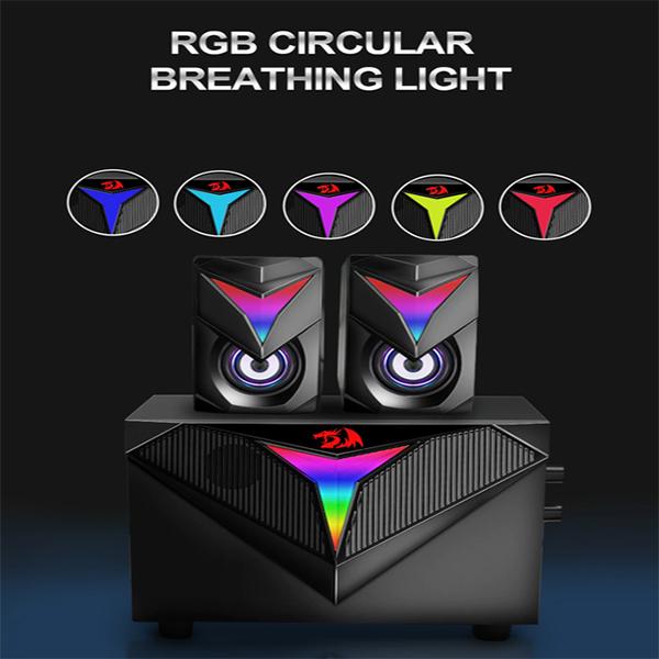 Boxe 2.1 Redragon Toccata iluminare RGB negre [5]