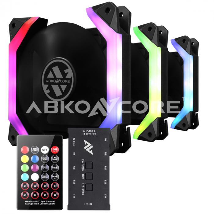 Ventilatoare ABKONCORE Spider Spectrum 3in1, Sync, RGB, LED, 120mm, kit [0]