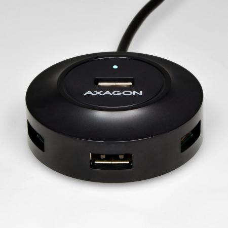 4x USB2.0 Hub 80cm Cable + Micro USB OTG Black [3]