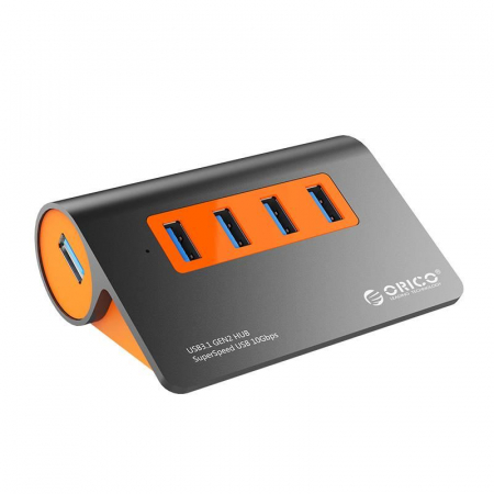 Hub USB Orico M3H4-G2 USB 3.1 Orange0