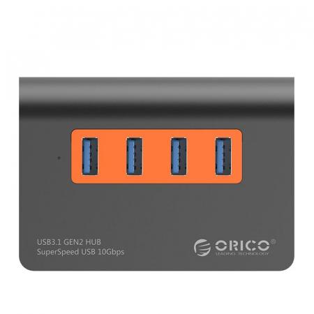 Hub USB Orico M3H4-G2 USB 3.1 Orange1