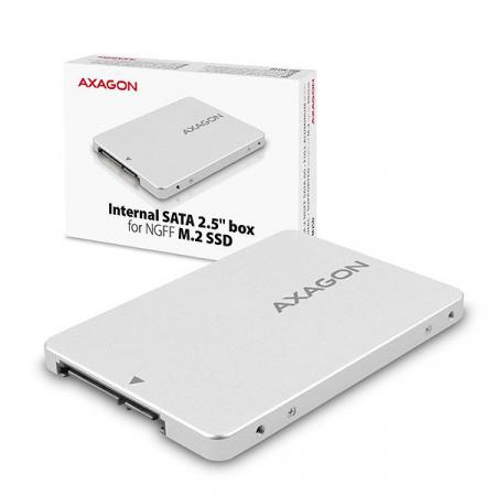Adaptor 2.5 inch SATA la M.2 SATA SSD Axagon [9]