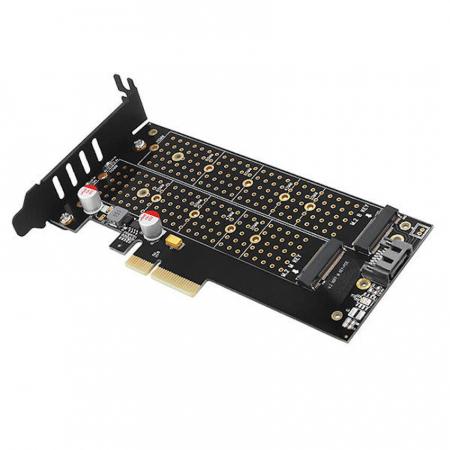 Adaptor PCI-Express 3.0 x4 la dual M.2 SSD, Active cooler [8]