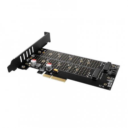 Adaptor PCI-Express 3.0 x4 la dual M.2 SSD, Active cooler [14]