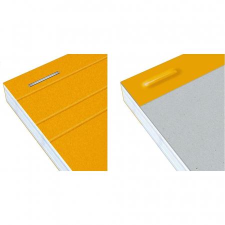 Blocnotes A4+, OXFORD Orange, 80 file galbene - 80g/mp, Scribzee, 4 perf, coperta carton - dictando3