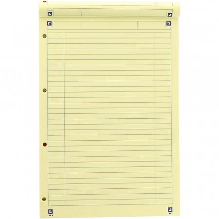 Blocnotes A4+, OXFORD Orange, 80 file galbene - 80g/mp, Scribzee, 4 perf, coperta carton - dictando2