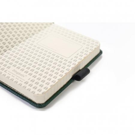 Caiet cu elastic, A6, 96 file-100g/mp-cream, coperti rigide verzi, Dingbats Deer - cu puncte3