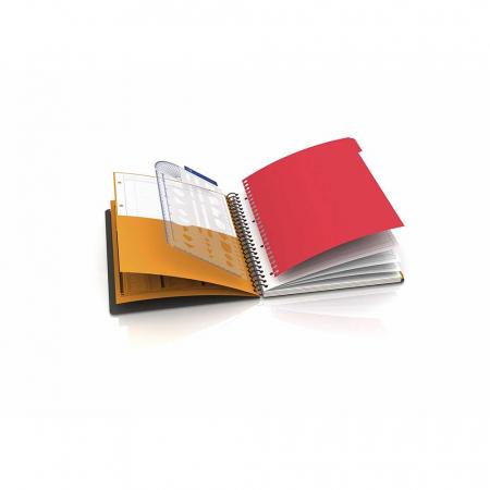 Caiet cu spirala A4+, OXFORD Int. Managerbook, 80 file-80g/mp, Scribzee, 4 perf, coperta PP-dictando [3]