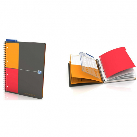 Caiet cu spirala A4+, OXFORD Int. Managerbook, 80 file-80g/mp, Scribzee, 4 perf, coperta PP-dictando [0]