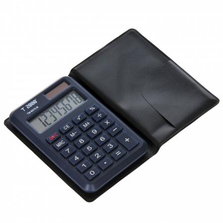 Calculator de buzunar, 8 digits, cu etui TM-6075-B [1]