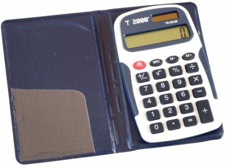 Calculator de buzunar  T2000, model TM60108, 8 digit's, cu etui [0]