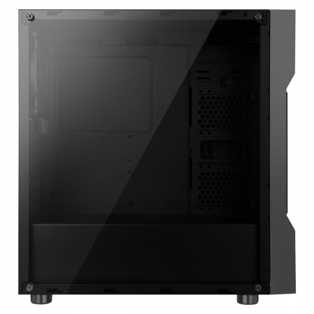Carcasa ABKONCORE Cronos 610S Black, ATX Mid Tower,LED RGB Strip, neagra [4]