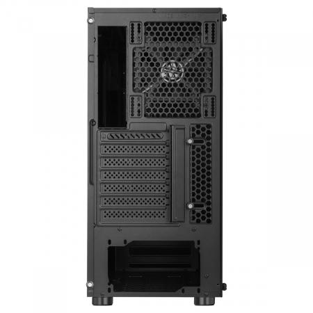 Carcasa ABKONCORE Cronos 610S Black, ATX Mid Tower,LED RGB Strip, neagra [7]