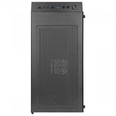 Carcasa ABKONCORE Cronos 610S Black, ATX Mid Tower,LED RGB Strip, neagra [6]