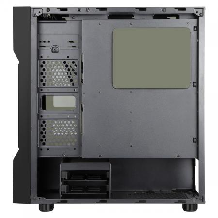 Carcasa ABKONCORE Cronos 610S Black, ATX Mid Tower,LED RGB Strip, neagra [5]