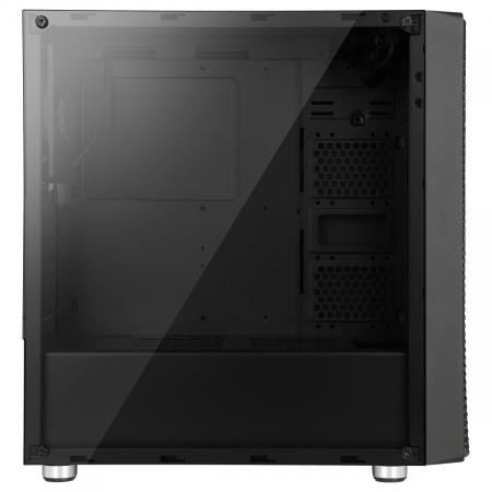 Carcasa ABKONCORE Cronos 650 Black, ATX Mid Tower, panou transparent, fara sursa [4]