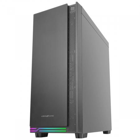 Carcasa ABKONCORE Cronos 710S Black, ATX Mid Tower, panou sticla securizata, LED RGB Strip, RGB fan, fara sursa [3]