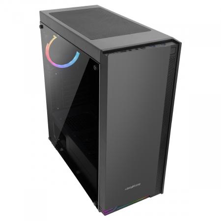 Carcasa ABKONCORE Cronos 710S Black, ATX Mid Tower, panou sticla securizata, LED RGB Strip, RGB fan, fara sursa [2]