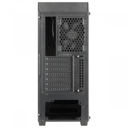 Carcasa ABKONCORE Cronos 710S Black, ATX Mid Tower, panou sticla securizata, LED RGB Strip, RGB fan, fara sursa [9]