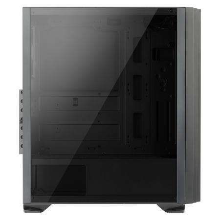 Carcasa ABKONCORE Cronos 750 Black, ATX Mid Tower, tempered glass, fara sursa [5]