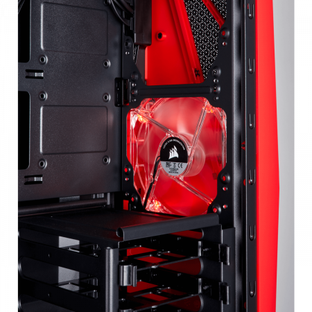 Carcasa Carbide Series SPEC-04 Tempered Glass Mid-Tower  — Black/Red8