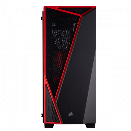 Carcasa Carbide Series SPEC-04 Tempered Glass Mid-Tower  — Black/Red2