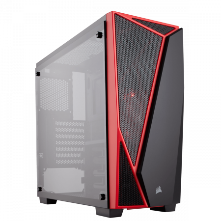Carcasa Carbide Series SPEC-04 Tempered Glass Mid-Tower  — Black/Red1